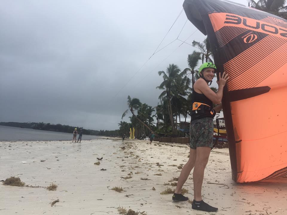 kiteboard eğitim sahili boracay