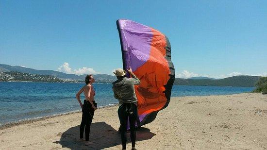 bodrum çelebi adası kiteboard eğitimi