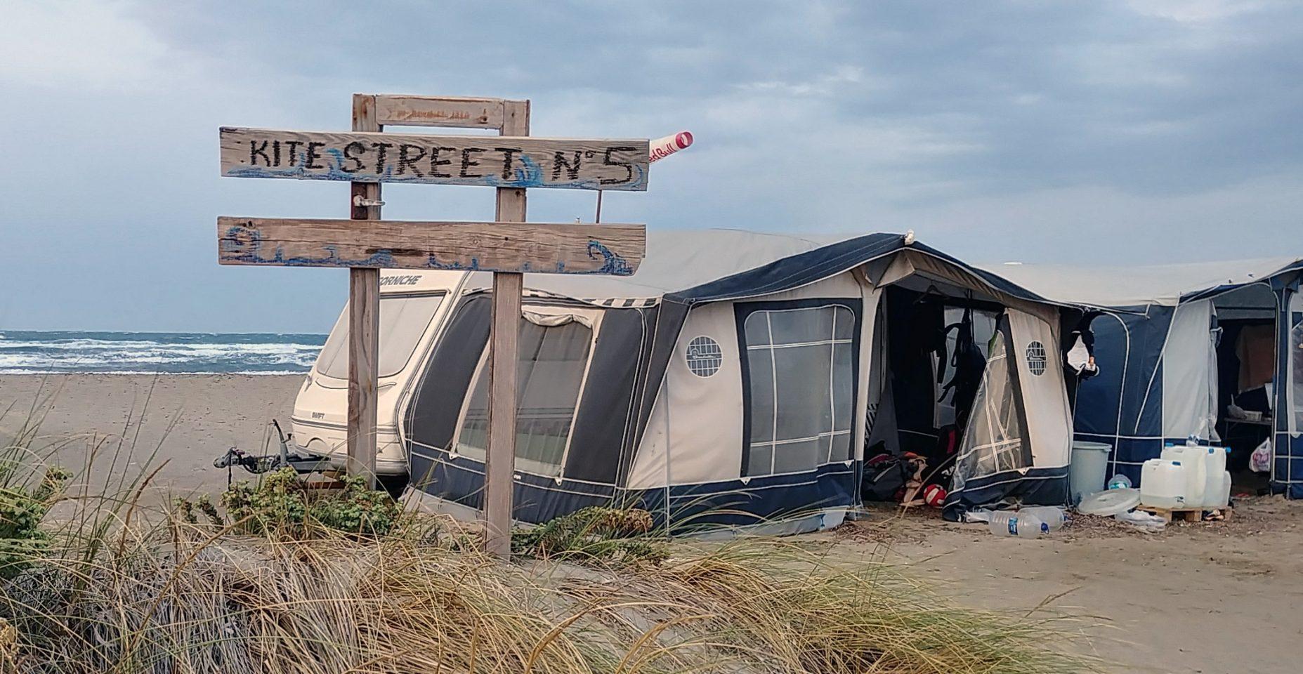 gökçeada'da kiteboard ve karavan